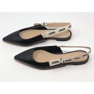 Dior  j'adior ballerina leather flats
